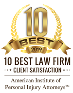 10 Best Law Firm Client Satisfaction 2019 American Institute of Personal Injury Attorneys